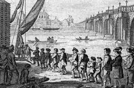Convicts Being Led To Ships